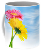 Two Gerberas Coffee Mug by Carlos Caetano