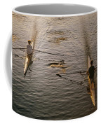Two Rowers Paddle Down The Charles Coffee Mug by Tim Laman