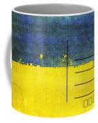Ukraine Flag Postcard Coffee Mug by Setsiri Silapasuwanchai