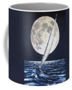 Under Full Sail..under Full Moon Coffee Mug by Jack Skinner