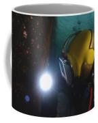 U.s. Navy Diver Welds A Repair Patch Coffee Mug by Stocktrek Images