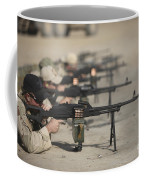 U.s. Soldiers Firing Pk 7.62 Mm Coffee Mug by Terry Moore