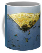 Valley And Sunlit Hillside Coffee Mug by Andrew Macara