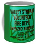Valley Stream Fire Department In Irish Green Coffee Mug by Rob Hans