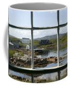 View Of A Harbor Through Window Panes Coffee Mug by Pete Ryan