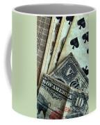 Vintage Playing Cards And Cash Coffee Mug by Jill Battaglia