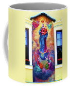 Virgin Mary Mural Coffee Mug by Mariola Bitner