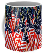 Wall Of Us Flags Coffee Mug by Carolyn Marshall