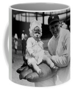 Walter Johnson Holding A Baby - C 1924 Coffee Mug by International  Images