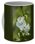 White Rose Of Sharon Coffee Mug by Teresa Mucha