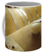 Wine Barrel Detail In Cellar At Winery Coffee Mug by James Forte