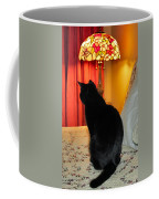 Witches Cat Coffee Mug by Art Dingo