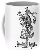 Woman Playing The Lute Coffee Mug by Granger