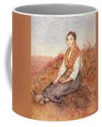 Woman With A Bundle Of Firewood Coffee Mug by Pierre Auguste Renoir