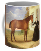 Portrait Of A Lady With Her Horse Coffee Mug by English School