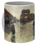 A Rainy Day In Boston Coffee Mug by Childe Hassam