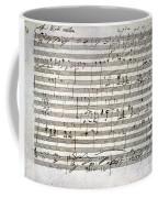 Beethoven Manuscript Coffee Mug by Granger
