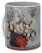 Chrysanthemums Coffee Mug by Claude Monet