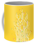 Circuit Board Graphic Coffee Mug by Setsiri Silapasuwanchai