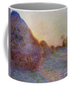 Haystacks Coffee Mug by Claude Monet