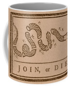 Join Or Die Coffee Mug by War Is Hell Store