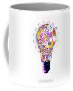 Light Bulb Design By Cogs And Gears  Coffee Mug by Setsiri Silapasuwanchai