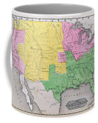Map Of The United States Coffee Mug by John Warner Barber and Henry Hare
