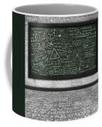 Maths Formula On Chalkboard Coffee Mug by Setsiri Silapasuwanchai