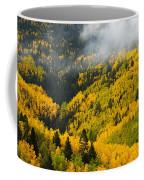 Quaking Aspen And Ponderosa Pine Trees Coffee Mug by Ralph Lee Hopkins