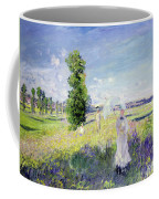 The Walk Coffee Mug by Claude Monet