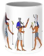 Egyptian Gods And Goddess Coffee Mug by Michal Boubin