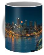2011 Supermoon Over Pittsburgh Coffee Mug by Jennifer Grover