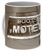 Route 66 - Boots Motel Coffee Mug by Frank Romeo