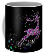 Reindeer Design By Snowflakes Coffee Mug by Setsiri Silapasuwanchai