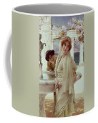 A Difference Of Opinion Coffee Mug by Sir Lawrence Alma-Tadema