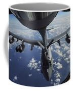 A Kc-135 Stratotanker Aircraft Refuels Coffee Mug by Stocktrek Images
