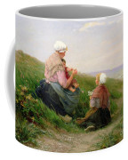 A Mother And Her Small Children Coffee Mug by Edith Hume