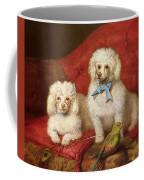 A Pair Of Poodles Coffee Mug by English School