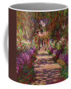 A Pathway In Monets Garden Giverny Coffee Mug by Claude Monet