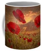 A Poppy Kind Of Morning Coffee Mug by Debra and Dave Vanderlaan