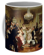 A Schubert Evening In A Vienna Salon Coffee Mug by Julius Schmid