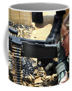 A Soldier Fires An M240b Medium Machine Coffee Mug by Stocktrek Images