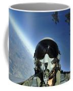 A Three-ship Formation Of F-15e Strike Coffee Mug by Stocktrek Images