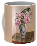 A Vase Of Peonies Coffee Mug by Camille Pissarro