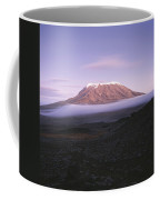 A View Of Snow-capped Mount Kilimanjaro Coffee Mug by David Pluth