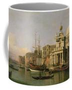 A View Of The Dogana And Santa Maria Della Salute Coffee Mug by Antonio Canaletto
