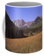 A View Of The Maroon Bells Mountains Coffee Mug by Taylor S. Kennedy