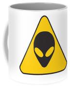 Alien Grey Graphic Coffee Mug by Pixel Chimp