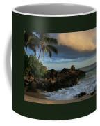 Aloha Naau Sunset Paako Beach Honuaula Makena Maui Hawaii Coffee Mug by Sharon Mau