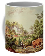 American Farm Scenes Coffee Mug by Currier and Ives